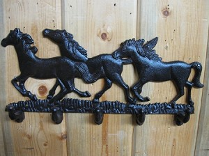 Three Horses Coat Hanger